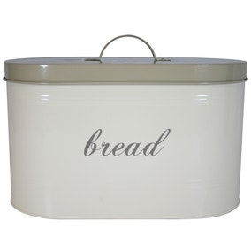 Cream Farmhouse Bread Bin