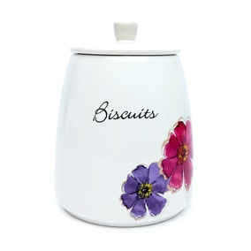 Mulberry Flower Biscuit Storage Jar