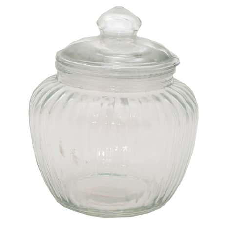 Vintage Glass Barrel Jar