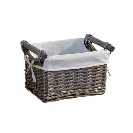 Grey Split Willow Basket