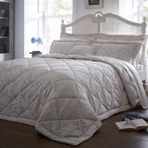 Dorma Natural Aveline Quilted Throw