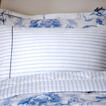 Dorma Blue Toile Cuffed Pillowcase