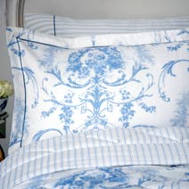 Dorma Blue Toile Oxford Pillowcase