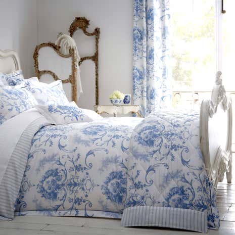 Dorma Toile 100 Cotton Blue Duvet Cover Dunelm