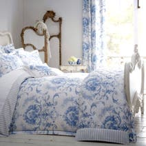 Dorma Toile Blue Duvet Cover