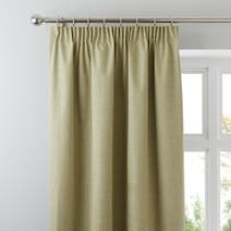 Green Solar Blackout Pencil Pleat Curtains