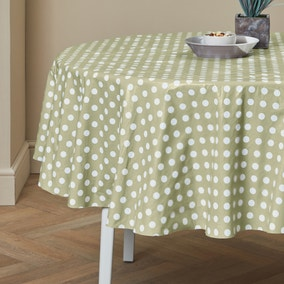 Dotty Round PVC Tablecloth