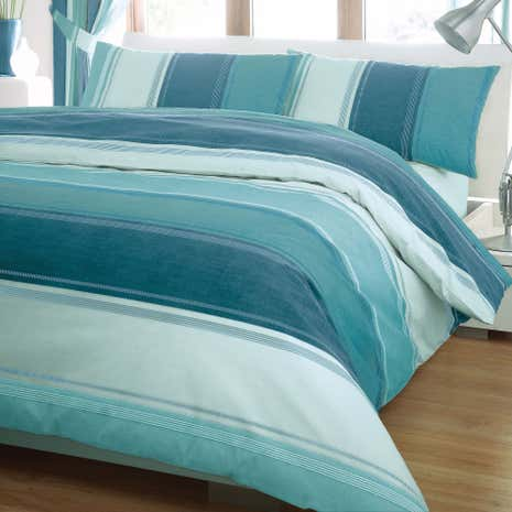 Teal Finley Duvet Cover Set