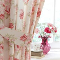 Annabella Pink Lined Pencil Pleat Curtains