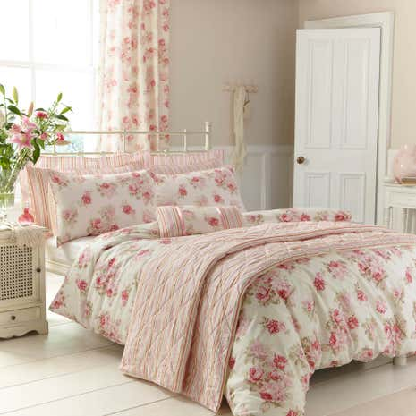 Annabella Pink Duvet Cover and Pillowcase Set