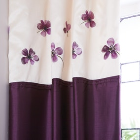 Louisa Plum Thermal Pencil Pleat Curtains