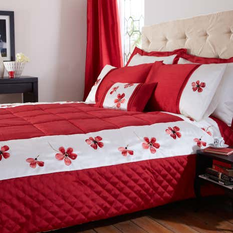 Red Louisa Bedspread