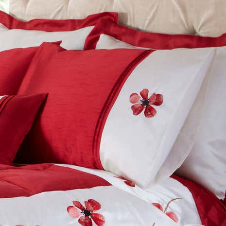 Red Louisa Housewife Pillowcase