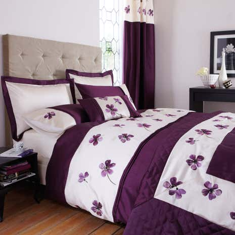 Plum Louisa Duvet Cover