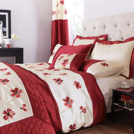 Red Louisa Duvet Cover