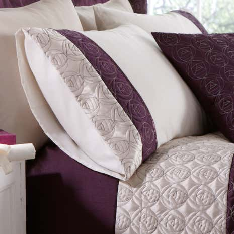 Plum Nouveau Rose Housewife Pillowcase