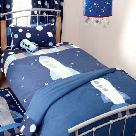 Kids Space Mission Duvet Cover Set