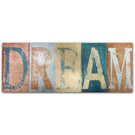 Dream Raised Words Wall Art