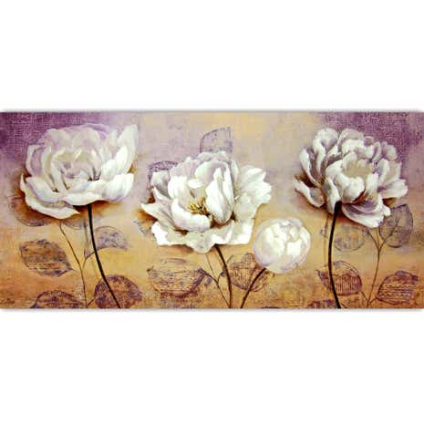 Textured Peony Hand Painted Canvas