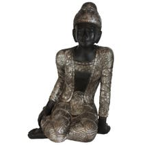 Burnt Sienna Sitting Buddha Ornament