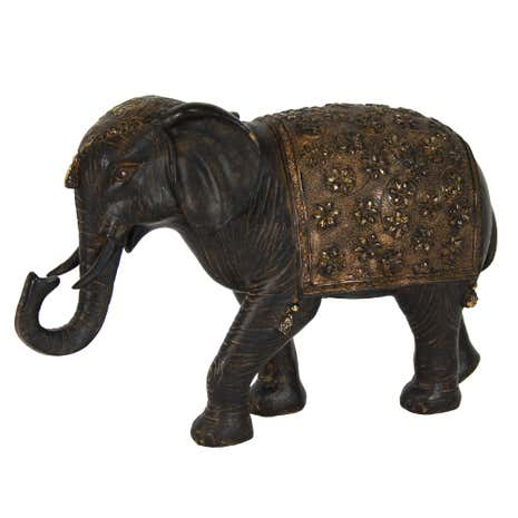 Burnt Sienna Elephant Ornament