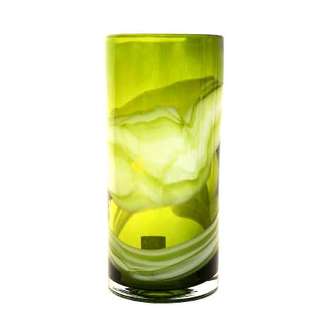 Key Lime Glass Swirl Vase
