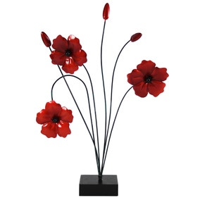 Ruby Poppy Sculpture