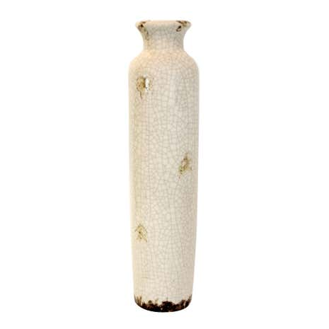 Vintage Crackle Ceramic Bottle Vase
