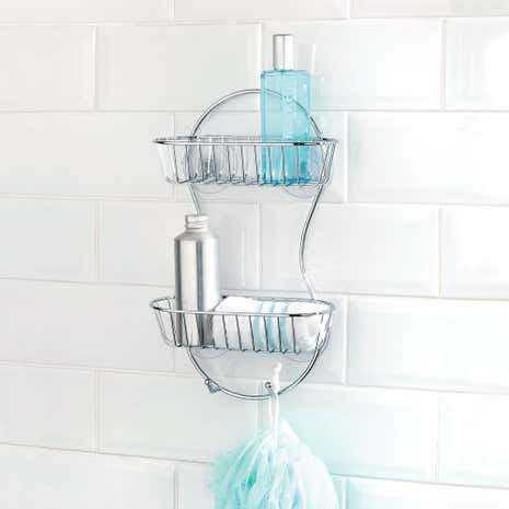 Bathroom Basics 2 Tier Shower Rack