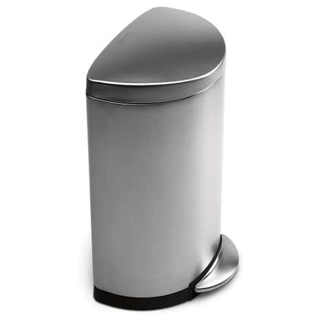 simplehuman 40 Litre Semi Round Stainless Steel Pedal Bin