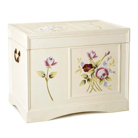 Summer Rose Hand Painted Storage Chest