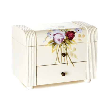Summer Rose Hand Painted Jewellery Box