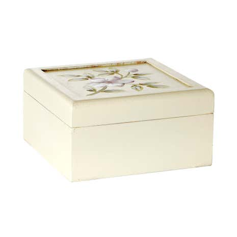 Pale Pink Posy Hand Painted Jewellery Box