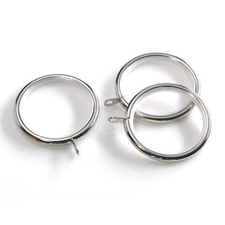 Swish Portland Satin Steel Curtain Rings