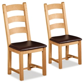 Shawbury Pair of Oak Chairs