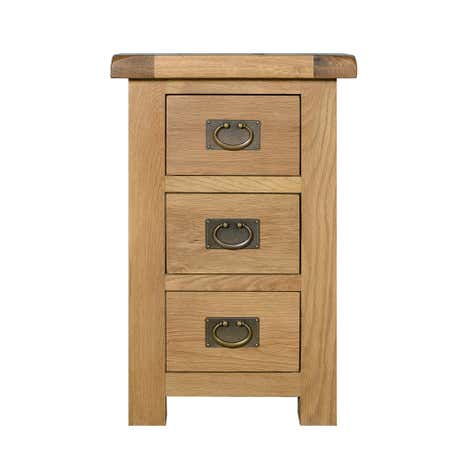 Aylesbury Oak 3 Drawer Bedside Table