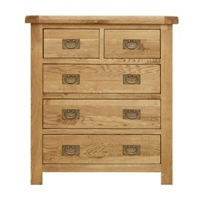 Aylesbury Oak 5 Drawer Chest
