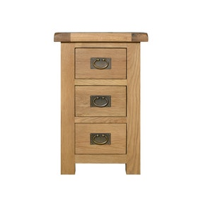 Aylesbury Oak Wide 3 Drawer Bedside Table