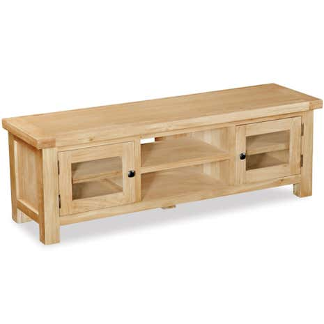 Harrogate Oak Wide TV Stand