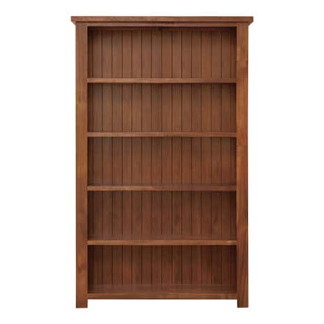Oxford Acacia Dark Wood Large Bookcase