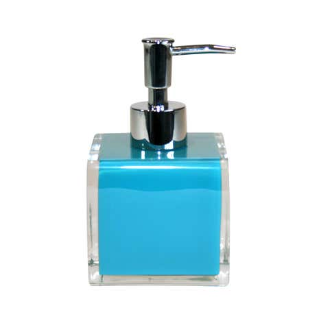 Teal Brights Acrylic Soap Dispenser