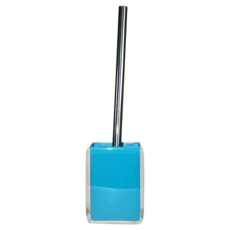 Teal Brights Acrylic Toilet Brush Holder