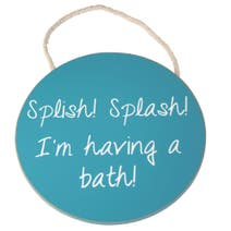 Splish Splash Wooden Sign