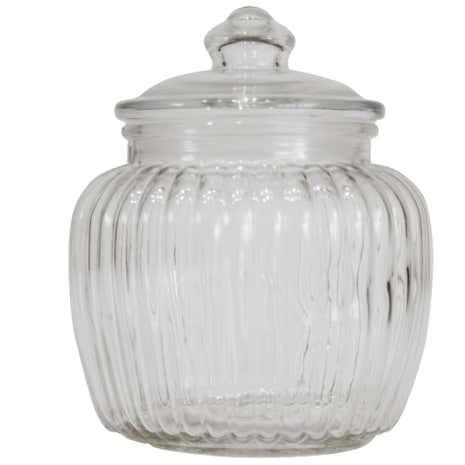 Vintage Ridged Jar