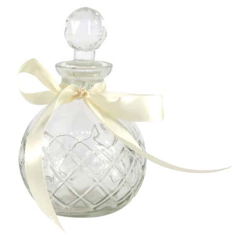 Vintage Round Glass Perfume Bottle