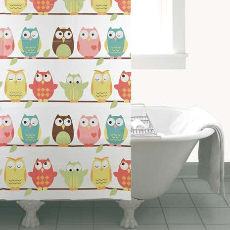 Wise Old Owl Shower Curtain
