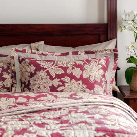 Dorma Red Samira Oxford Pillowcase