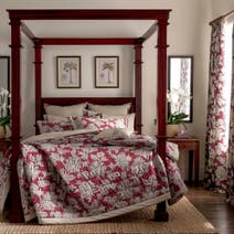 Dorma Red Samira Quilted Throw