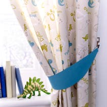 Kids Roaring Dino Blackout Pencil Pleat Curtains