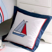 Kids Blue Sail Away Cushion